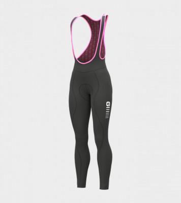 Zimní cyklistické kalhoty dámské ROBNÉ SOLID ESSENTIAL černé / růžové