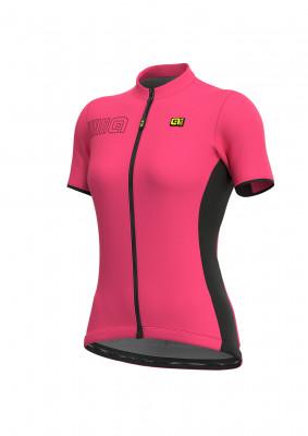 Letní cyklistický dres dámský Alé SOLID Color Bock Lady růžový