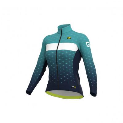 Zimní dámský cyklistický dres Alé PR-R Stars modrý