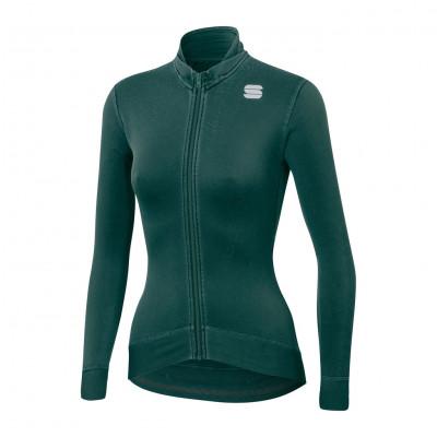 Cyklistický dres dámský Sportful Monocrom Thermal zelený