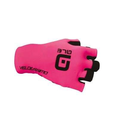Letní cyklistické rukavice Alé Velocissimo Crono Glove růžové