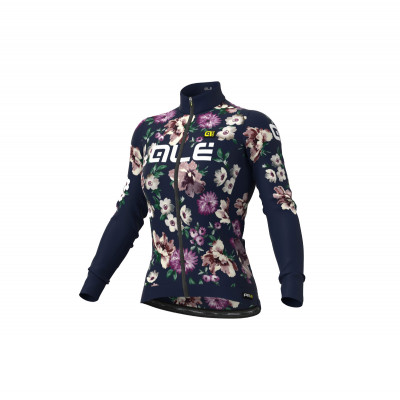 Zateplený cyklistický dres dámský Alé GRAPHICS PRR FIORI modrý
