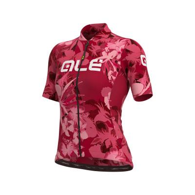Letní cyklistický dres dámský Alé SOLID Bouquet Lady bordovy