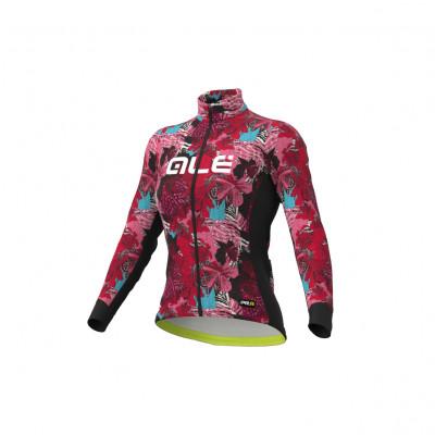 Zateplený cyklistický dres dámský Alé PR-R Amazzonia černý/růžový