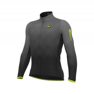 Zateplený cyklistický dres pánský Alé R-EV1 Clima Protection 2.0 Velocity wind G+ sivý