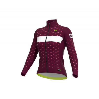 Zimní dámský cyklistický dres Alé PR-R Stars růžový