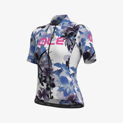 Letní cyklistický dres dámský ALÉ SOLID BOUQUET LADY bíly