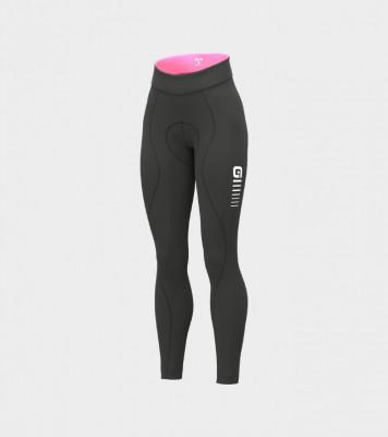 Zimní cyklistické kalhoty ALÉ dámské SOLID ESSENTIAL černé/růžové