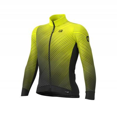 Zateplený cyklistický dres Alé pánský PR-S STORM žlutý/černý