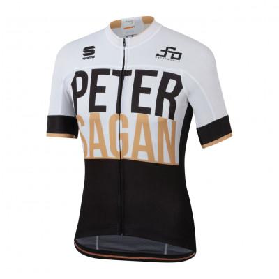 Letní cyklistický dres pánský Sportful Sagan LOGO BodyFit TEAM bílý/černý