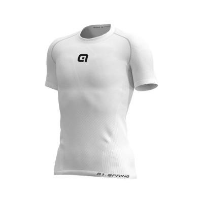 Letní cyklistické funkční tričko pánské Alé S1 Spring bílé