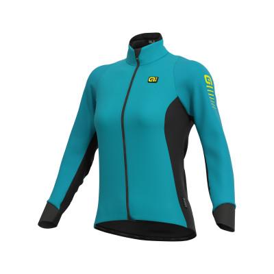 Zimní cyklistická bunda dámská Alé R-EV1 Clima Protection 2.0 modrá
