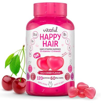 Vlasové vitamíny Happy Hair Vitaful 120 kapslí