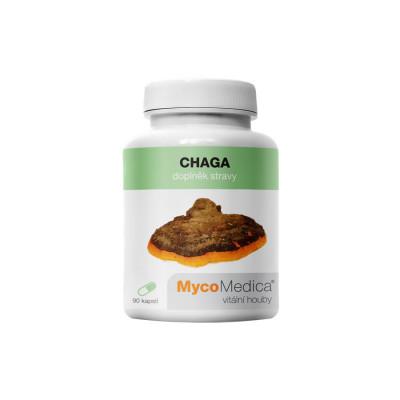 Vitální houby Chaga MycoMedica v optimální koncentraci 30% 90 kapslí