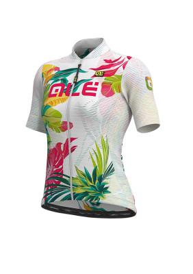 Letní cyklistický dres dámský Alé SOLID Tropika Lady bílý