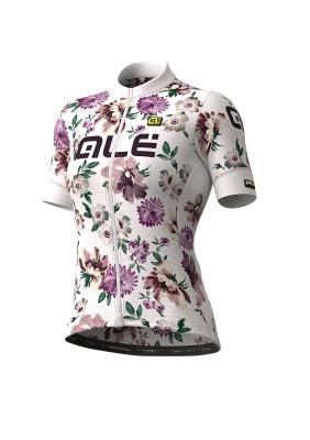 Letní cyklistický dres dámský Alé GRAPHICS PRR Fiori Lady bíly