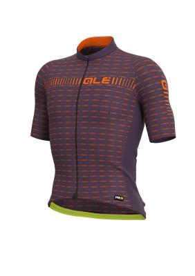 Letní cyklistický dres pánský Alé GRAPHICS PRR Green Road fialový/oranžový