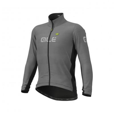 Zimní cyklistická bunda pánská Alé Guscio šedá/černá