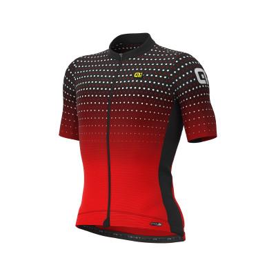 Letní cyklistický dres pánský Alé PRS Bullet černý/červený
