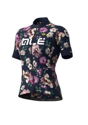 Letní cyklistický dres dámský Alé GRAPHICS PRR Fiori Lady modrý