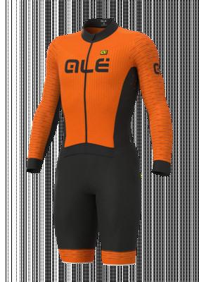 Cyklistická kombinéza ALÉ PRS FUGA DWR CICLOCROSS oranžová