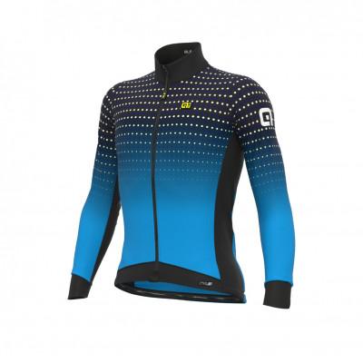 Zateplený cyklistický dres pánský ALÉ PRS BULLET DWR modrý