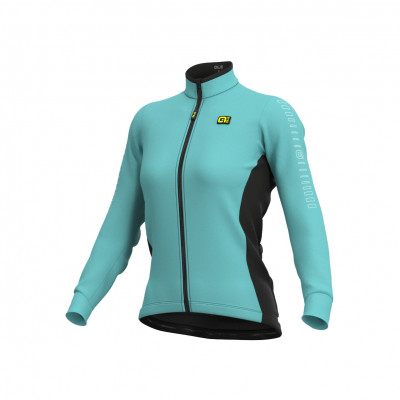 Zateplený cyklistický dres dámský Alé SOLID Fondo modrý