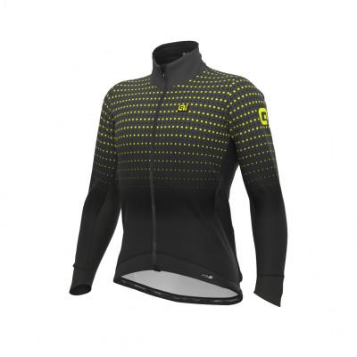 Zimní cyklistická bunda pánská Alé PRS Bullet DWR Stretch černá