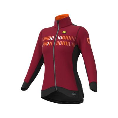 Zimní cyklistická bunda dámská Alé R-EV1 Clima Protection 2.0 červená