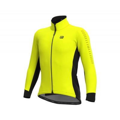 Zimní cyklistická bunda pánská Alé SOLID Fondo žlutá