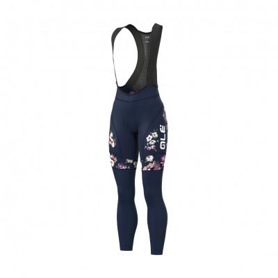 Zimní cyklistické kalhoty dámské Alé GRAPHICS PRR FIORI Women modré