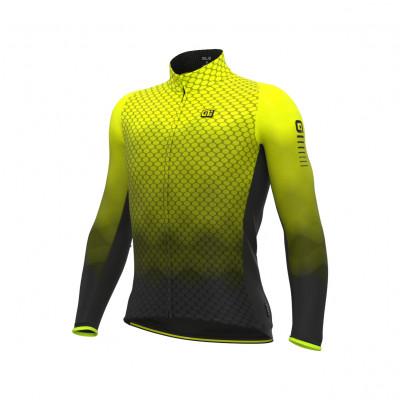 Zateplený cyklistický dres pánský ALÉ R-EV1 CLIMA PROTECTION 2.0 VELOCITY WIND G+ žlutý