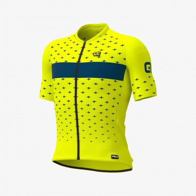 Letní cyklistický dres pánský ALÉ PRR STARS žlutý