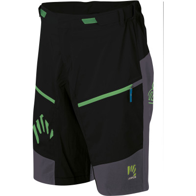 Karpos RAPID Baggy kraťasy čierne/tmavomodré/zelené fluo