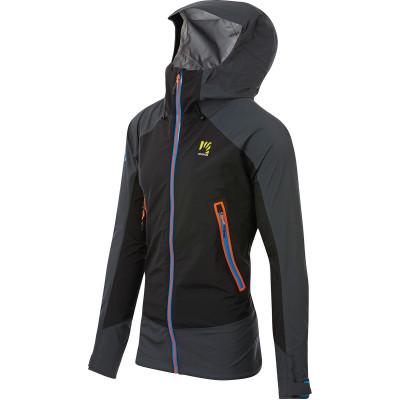 Outdoorová bunda pánská Karpos STORM EVO černá/tmavě šedá