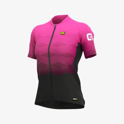 Letní cyklistický dres dámský Alé PRR Magnitude Lady růžový