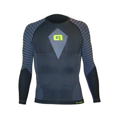 Zimní cyklistické funkční tričko pánské Alé S1 Autunno modré/ černé