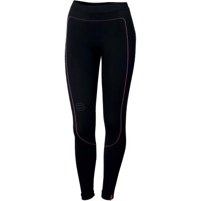 Zimní termo legíny dámské Sportful 2nd SKIN černé/růžové