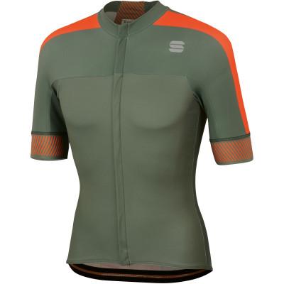 Letní cyklistický dres pánsky Sportful Bodyfit Pro 2.0 Classsics zelený/oranžový