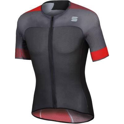 Letní cyklistický dres pánský Sportful BodyFit Pro Light černý/červený
