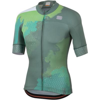 Cyklistický dres pánský Sportful BodyFit Team 2.0 Dolomit kaki zelený