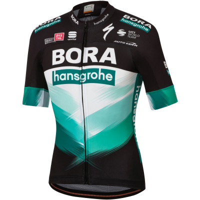 Letní cyklistický dres pánský Sportful BODYFIT TEAM BORA HANSGROHE černý/zelený