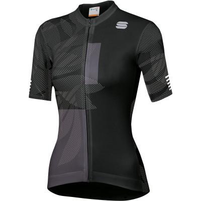 Letní cyklistický dres dámský Sportful Oasis černý/antracitový
