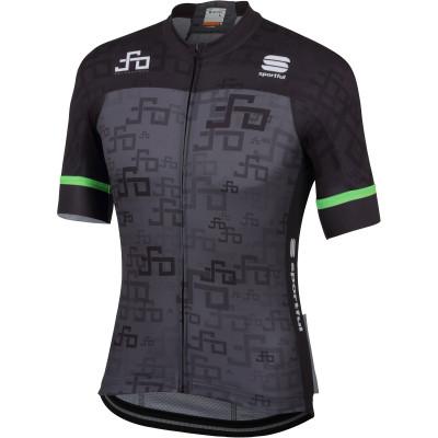 Cyklistický dres pánský Sportful Sagan Logo BodyFit Team tmavě šedý