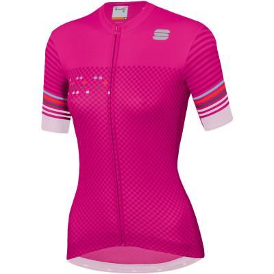 Letní cyklistický dres dámský Sportful Sticker růžový