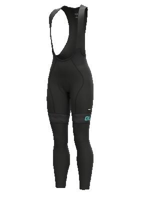 Zimní cyklistické kalhoty dámské Alé PR-R MILD černé/tyrkysové