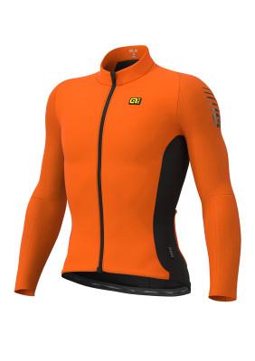 Zimní cyklistický dres pánský ALÉ R-EV1 CLIMA PROTECTION 2.0 WARM RACE oranžový